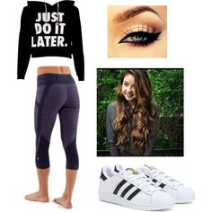 A fashion look from October 2015 featuring lululemon leggings and adidas sneakers. Browse and shop related looks.