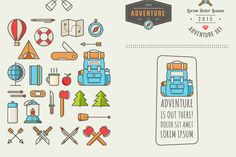 Icons for adventure by fet on @creativemarket