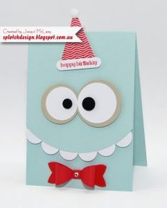 My Crafty Friends Monday: March Break Kids Craft Ideas - Hand Stamped Cards with Josee Smuck-Stampin' Up! Canada Demonstrator
