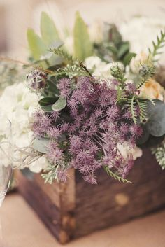 Connecticut Wedding from Clean Plate Pictures + Sixpence For Your Shoe Christmas Wedding Centerpieces, Christmas Wedding Flowers, Summer Wedding Bouquets, Diy Wedding Bouquet, Rustic Wedding Centerpieces, Rustic Bouquet, Wedding Decorations, Cute Wedding Ideas, Wedding Inspiration