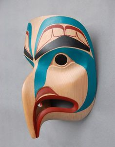 Mask depicting Eagle, 2011  David Boxley, Tsimshian Nation   alder, pigment