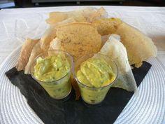 Guacamole à la papaye et ses chips épicées