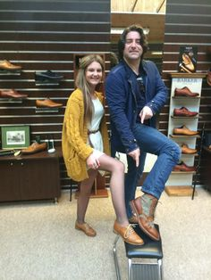 Here we have local singer, songwriter and author, Brian Kennedy with sales assistant, Gemma.