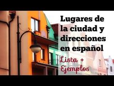 """Video covers 18 common places around town. Useful phrases and questions to ask and give directions and describe """"una ciudad"""" using simple adjectives. Ap Spanish, Spanish Grammar, Spanish Vocabulary, Spanish Teacher, Spanish Classroom, How To Speak Spanish, Spanish Language, Spanish Teaching Resources, Spanish Activities"""