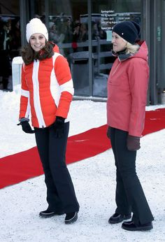 Kate Middleton Photos - Catherine, Duchess of Cambridge and Crown Princess Mette Marit of Norway arrive at Holmenkollen ski jump, where they will take a short tour of the museum before ascending to the top of ski jump to talk with and observe junior ski jumpers from Norway's national team on day 4 of their visit to Sweden and Norway on February 2, 2018 in Oslo, Norway. - The Duke And Duchess Of Cambridge Visit Sweden And Norway - Day 4