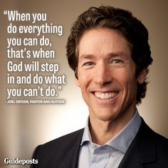 Vision Board Party: Mid-Week Inspiration: Share this inspiring Joel Osteen quote with those you love! Religious Quotes, Spiritual Quotes, Positive Quotes, Positive Messages, Faith Quotes, Bible Quotes, Me Quotes, Qoutes, Biblical Quotes
