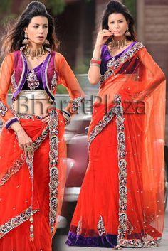 Fantastic Kalidar Lehenga Saree  Item code : SKD838   http://www.bharatplaza.in/womens-wear/sarees/bridal-sarees/fantastic-kalidar-lehenga-saree-skd838.html  https://www.facebook.com/bharatplazaindianbridal  https://twitter.com/bharatplaza_in