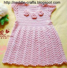 Free Crochet Girls Dress Pattern | Free crochet girl dress diagram pattern. Maybe ... | Beautiful World ... Moss ༺✿ƬⱤღ  https://www.pinterest.com/teretegui/✿༻