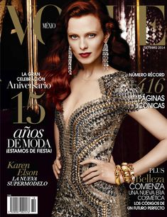 Cameron Russell, Frankie Rayder, Guinevere Van Seenus, Irina Shayk, Karen Elson by Alexi Lubomirski for Vogue Mexico October 2014 Vogue Magazine Covers, Fashion Magazine Cover, Fashion Cover, Vogue Covers, Cameron Russell, Karen Elson, Irina Shayk, Auburn, Vogue Mexico