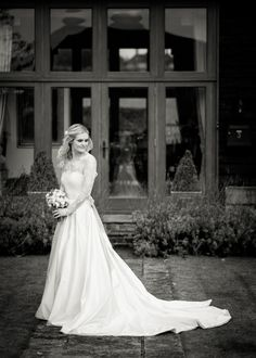 A beautiful bride resplendent in her wedding gown by Rupert Marlow Photography