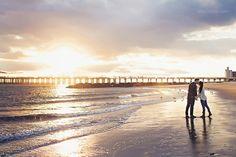 The sunset at Coney Island is absolutely breathtaking!  #romance #uniquenjvenues #coneyisland #njweddingvenues #engagmentideas #weddingideas #uniqueweddingideas #njbride