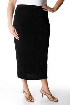 b414776439384 Vikki Vi Classic Black Straight Maxi Skirt