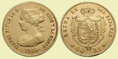 40 Reales - 4 Escudos - 2 Pesos. Madrid, 1864