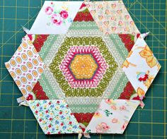 Smitten Large Hexagon Three A.  Join Smitten Quilt-Along on Facebook