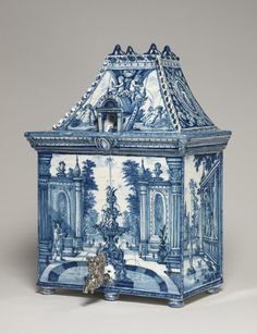 Water cistern shaped as a house. Dutch, Greek A Factory, Delft, c.1700. Copyright The Fitzwilliam Museum in Cambridge http://www.fitzmuseum.cam.ac.uk/gallery/treasuredpossessions/discover/90.html