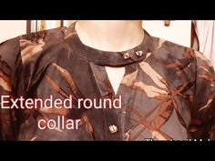 kurti collar neck cutting Simple & Easy Method - Cutting & Stitching tutorial Today I'll show you how to cut a neck collar in very easy way and you can also . Salwar Neck Designs, Neck Designs For Suits, Sleeves Designs For Dresses, Dress Neck Designs, Collar Designs, Blouse Designs, Collar Kurti Design, Kurta Neck Design, Kurti Patterns