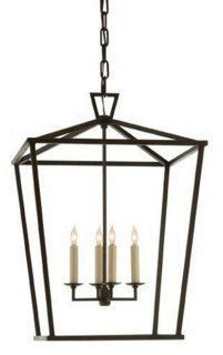 Darlana Medium 4-Light Lantern, Iron