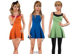 Party Dress for teen by BluElla - Sims 3 Downloads CC Caboodle