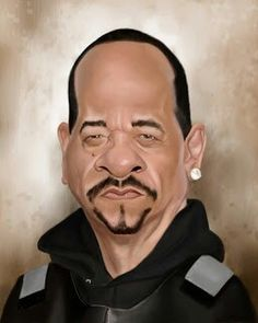 Ice T #Caricature #FunnyFaces