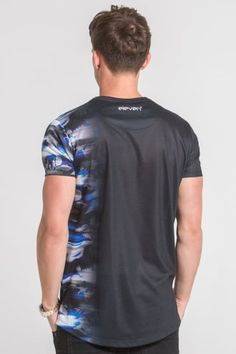 11 Degrees Electric Vertical Sub Tee - Black - 11 Degrees from Urban Celebrity UK