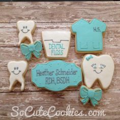 The most adorable dental themed cookies from my graduation party!!