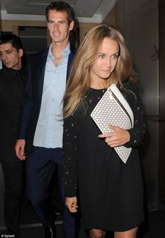 Night out: Murray and girlfriend Kim Sears continued to celebrate his victory at Nobu on Monday