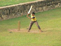Cricket training at the Galle fort, Sri Lanka