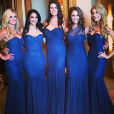 Royal blue bridesmaids dresses Royal Blue Bridesmaid Dresses, Mermaid Bridesmaid Dresses, Designer Bridesmaid Dresses, Prom Dresses, Formal Dresses, Wedding Dresses, Blue Bridesmaids, Maid Of Honour Dresses, Dress Robes