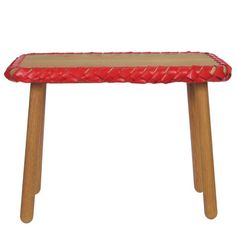 Braided Bench Red
