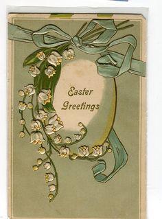 Easter Greetings  Embossed Vintage Postcard by sharonfostervintage, $1.50