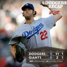 Clayton Kershaw delivers another masterful outing as the Dodgers blank the Giants. Recap: http://atmlb.com/1Al3mjn
