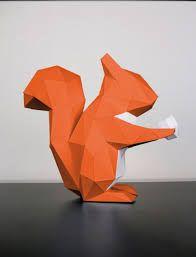 """Résultat de recherche d'images pour """"dessin ecureuil origami"""""""