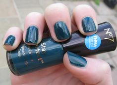 No7 Totally Teal a little brighter than opi ski teal we drop. I prefer it for consitensy and colour.