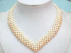 Heart shape Natural Freshwater Pearl Necklace