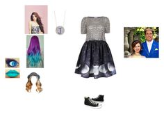 """""""Adam And Belle Talking To Me About My Princess Duties"""" by allyssaannayoung13-clearwater ❤ liked on Polyvore featuring Emma Watson, Temperley London, Converse, LASplash, Disney and disneydescendants"""