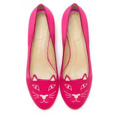 Charlotte Olympia Kitty Flat ($595) ❤ liked on Polyvore