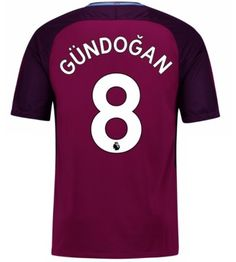 Billiga Fotbollströjor Manchester City Ilkay Gundogan 8 Bortatröja 17-18