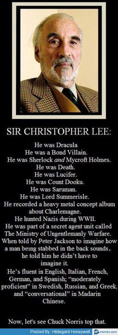 missharpersworld:  Rest in Peace Sir Christopher Lee.