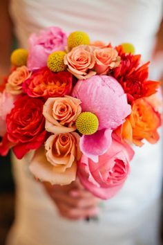 Warm color bouquet