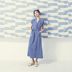 Blue Stripe long dress