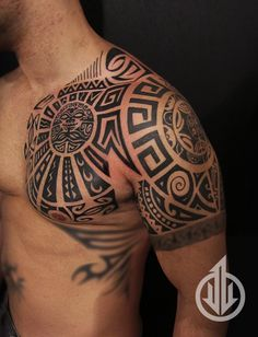 tattoo maori no peito e bra o tattoo pinterest maori tattoos and body art and tattoo maori. Black Bedroom Furniture Sets. Home Design Ideas
