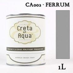 Krijtverf Creta et Aqua  1 Liter  Ferrum Grijs - Verven zonder te schuren.