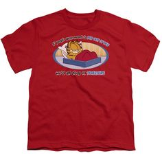 """Checkout our #LicensedGear products FREE SHIPPING + 10% OFF Coupon Code """"Official"""" Garfield / Pop Out Of Bed - Short Sleeve Youth 18 / 1 - Garfield / Pop Out Of Bed - Short Sleeve Youth 18 / 1 - Price: $29.99. Buy now at https://officiallylicensedgear.com/garfield-pop-out-of-bed-short-sleeve-youth-18-1"""