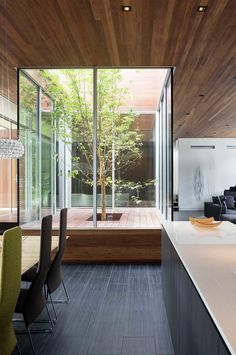 Internal courtyard ideas to light up your home. Photography by Mike Sinclair. Designed by Hufft Projects (hufft.com).