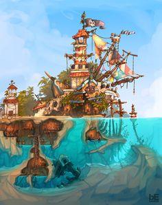 Kaptajn Øjvin's skjulte ø...