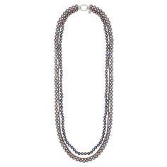 Glitterati Pearl and Pyrite Necklace