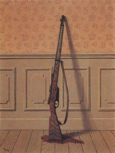 René Magritte (Belgian, 1898-1967), The Survivor, 1950. Oil on canvas.