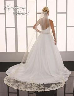 Wedding Veils :     Picture    Description  Regal Lace Cathedral Length Wedding Veil Symphony Bridal 6765VL – Affordable Elegance Bridal –    - #Veils https://weddinglande.com/accessories/veils/wedding-veils-regal-lace-cathedral-length-wedding-veil-symphony-bridal-6765vl-affordable-ele/