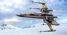 Poe Dameron's Black One T-70 X-Wing Fighter