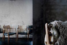 Charlotte Minty Interior Design: Inspiration Profile - Catherine Lazure-Guinard    http://www.greatdanefurniture.com/Danish-Furniture/Moller57Carver.aspx